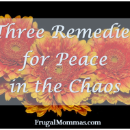 Three Remedies for Peace in the Chaos