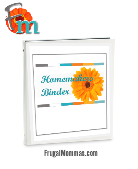 Frugal Mommas Homemaking Binder