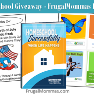 Homeschool Giveaway for Frugal Mommas Launch
