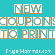 New Printable Coupons: Big Savings