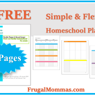 FREE Simple Flexible Homeschool Planner