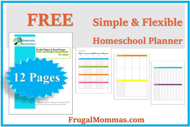 FREE simple & flexible homeschool planner