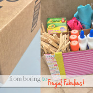 Turn A Box Into An Organization Caddy