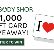 Body Shop & Savings.com $ 1000 Giveaway