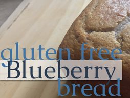 gluten free blueberry bread