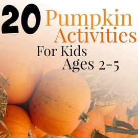 20 pumpkin activities - frugal mommas linky