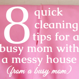 8 cleaning hacks - frugal mommas friday