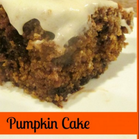 pumpkin cake - frugal momms