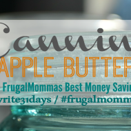 Canning Apple Butter: 31 days Money Saving