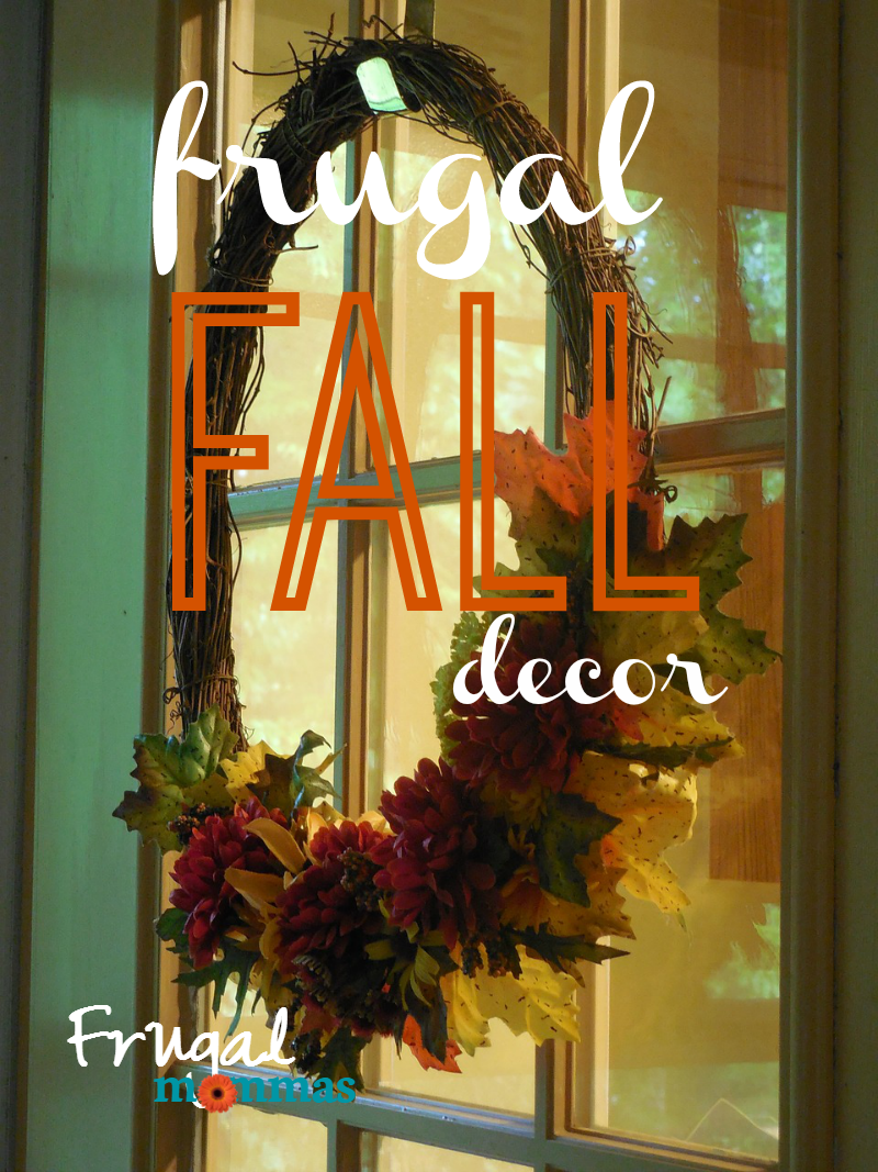 frugal fall decor banner