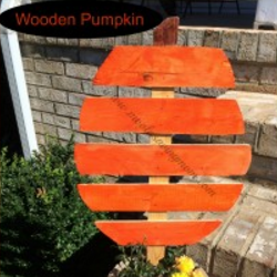 Thrifty Ideas for Home - wooden pumpkin