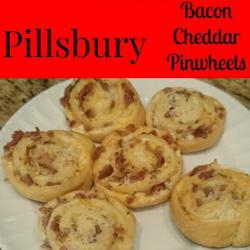 Bacon Cheddar Pinwheels - Thrifty Family