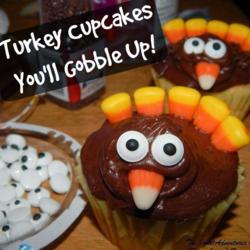 Turkey cupcakes - Thrifty Family