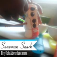 Frugal Mommas Friday Blog LinkUp - Snowman Snack
