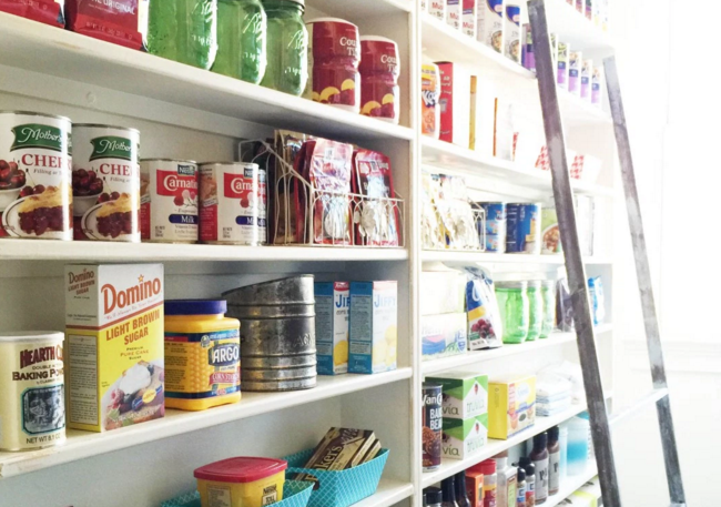DIY Home Projects with Glue- pantry shelves