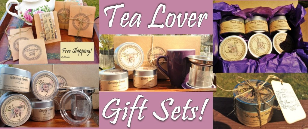 wedding tips - blooming with joy tea lover gift sets