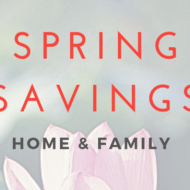 spring savings target home and family