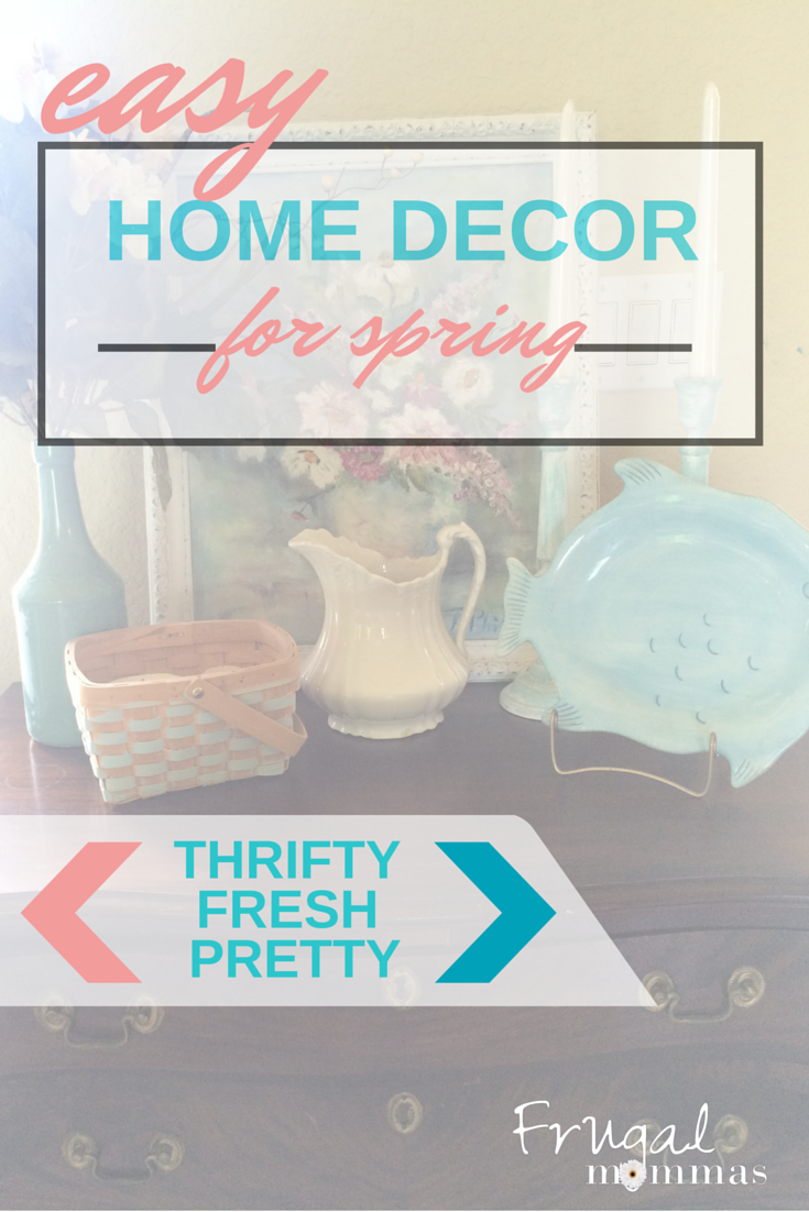 Easy Spring Home Decor - Thrifty Fresh Pretty DIY projects