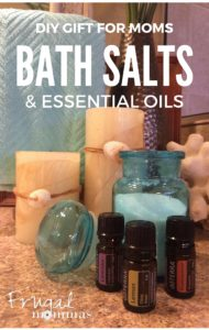 DIY bath salts gift with essential oils