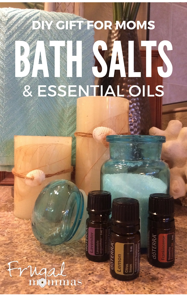 DIY essential oils bath salts gift