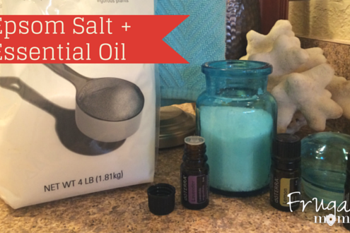 DIY Essential Oil Bath Salts Gift