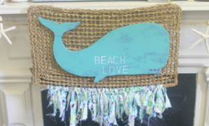 Frugal Mommas Friday Home Linkup 29 - DIY Whale Sign
