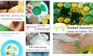Friday Home Linkup Frugal Mommas - Spring learning for preschools