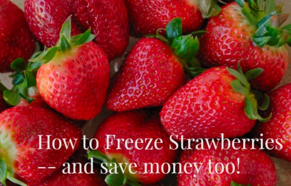 frugal friday linky 37 - freezing strawberries