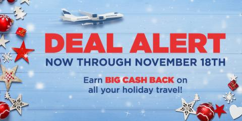 deal alert holiday travel