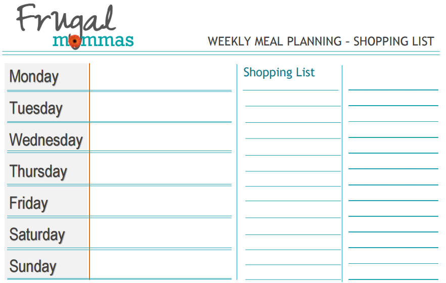 Frugal Mommas Organizing and Savings Challenge