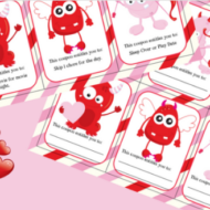 Free Printable Valentine Coupons – Alternative to Candy