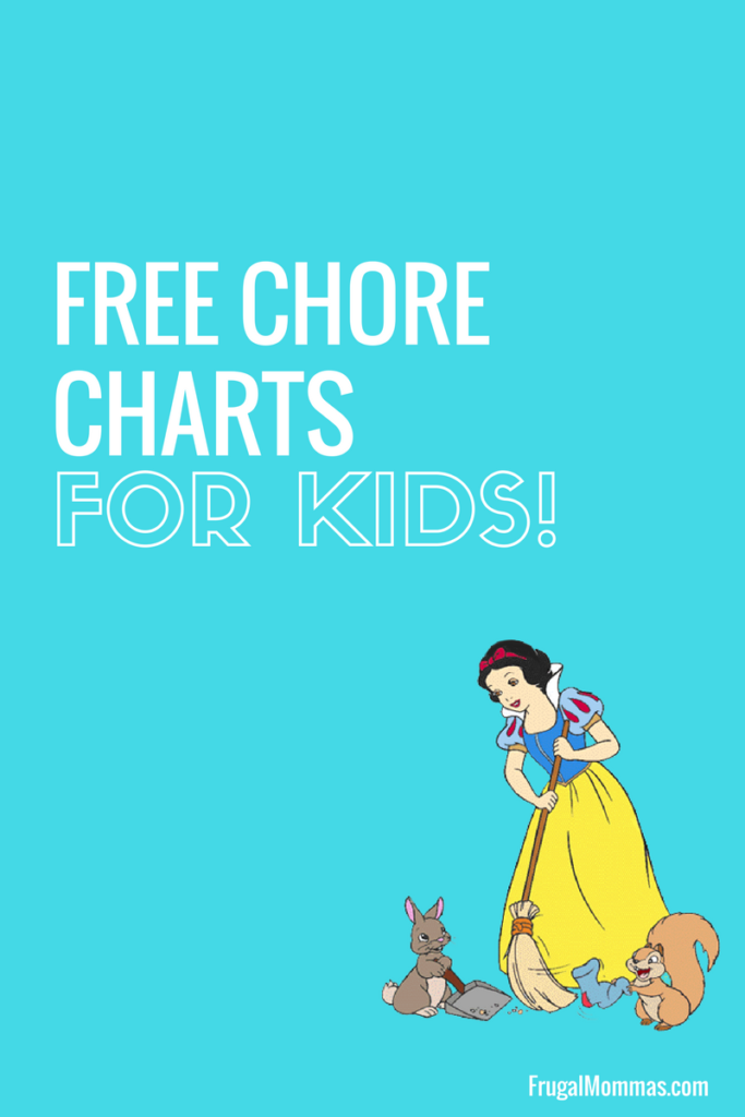 Free Chore Charts for kids