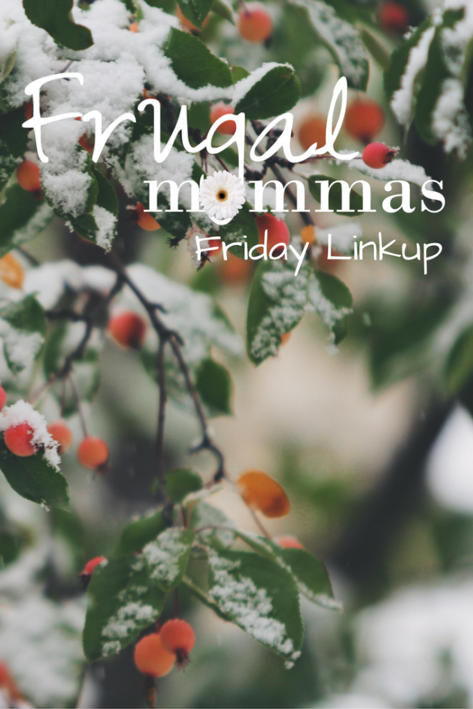 Frugal Friday Linkup Homemaking and more