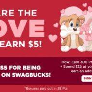 Earn Bonus Gift Cards Swagbucks Celebrates Love