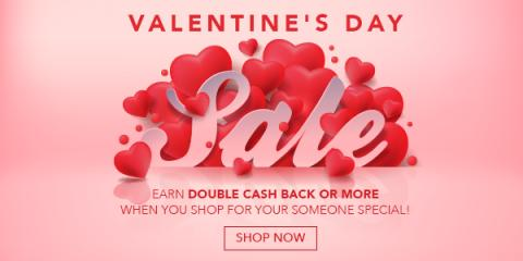 Valentine discount shopping