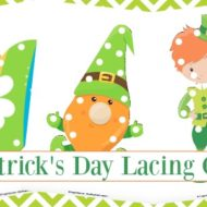 St. Patrick's Day Preschool Freebie – Lacing Cards