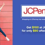 JCPenney Save $20 with Gift Card Points – Get $100 for $80