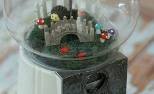 How to Make a Gumball Machine Fairy Garden