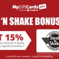 Steak N Shake Gift Cards Cash Back