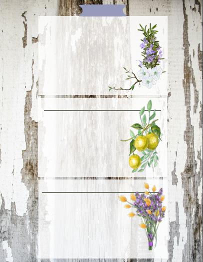 essential oils recipe cards