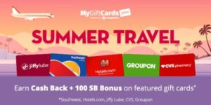Gift Cards and Travel Bonus Points with Swagbucks