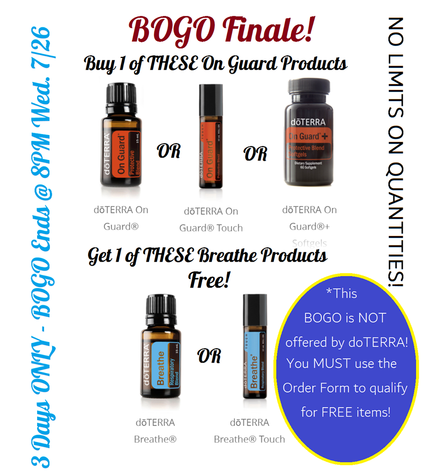 Exclusive BOGO DEAL Essential Oils!