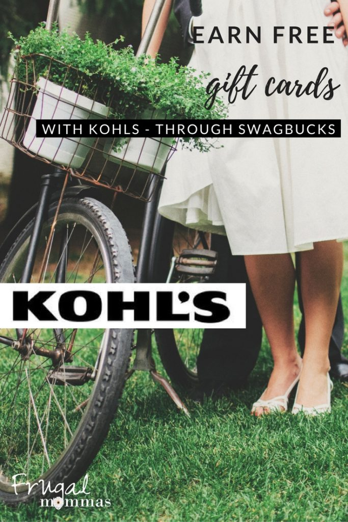 Kohls Savings Earn Gift Card Points with Swagbucks