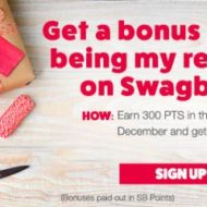 Swagbucks Gift Card Bonus Points Time is Here!