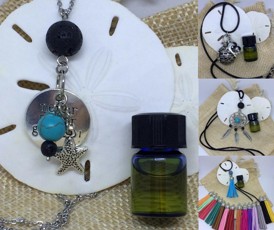 Essential Oil Lava Diffuser Necklaces