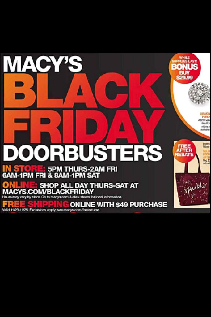 Macy's black friday coupon code