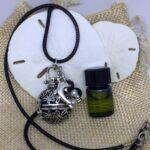 essential oils lava diffuser necklace Cage Diffuser Dolphin Charm
