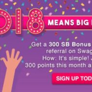 Big Bonus Swagbucks Gift Card Points in January