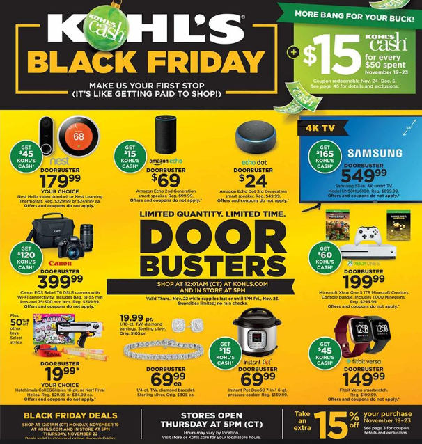 Kohls Black Friday Ads 2018